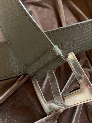Nurage Leather Belt grey