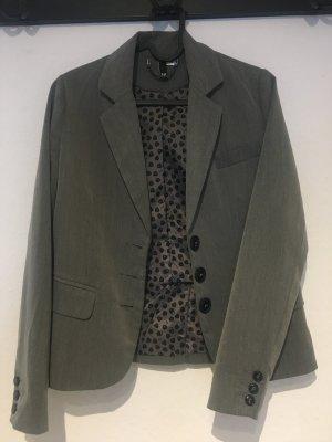 H&M Blazer Boyfriend gris-negro