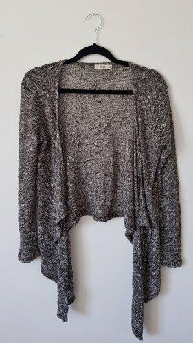 Bershka Crochet Cardigan grey-dark grey