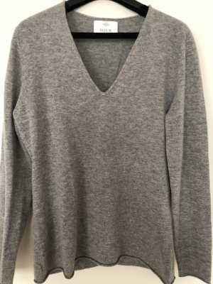 Allude Kaszmirowy sweter szary-ciemnoszary Kaszmir