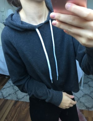 Grauer, cropped Hoodie