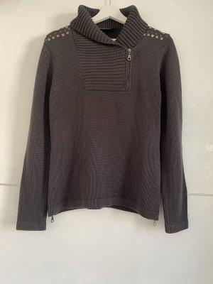 Grauer, dunkelgrauer, dicker Pullover von Lola by Little West 8 XL 42