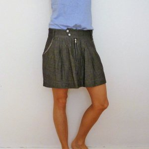 Quiksilver Skater Skirt grey cotton