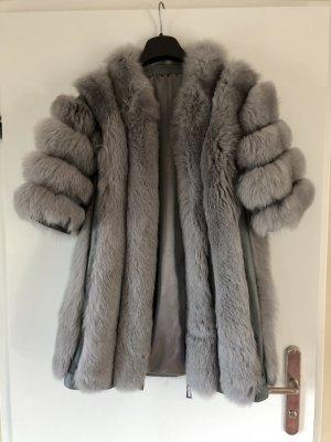 Pelt Coat silver-colored pelt