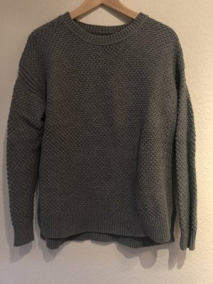 Abercrombie & Fitch Coarse Knitted Sweater grey-dark grey