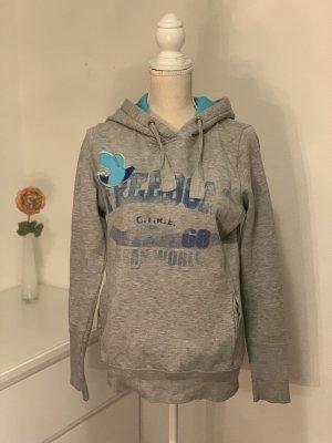 Grauer Hoodie Kapuzenpullover Sweatshirt von Only Gr. M