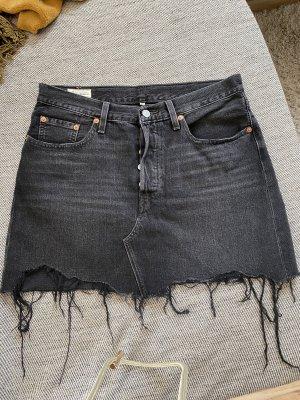 Grauer Jeans Minirock von Levi's
