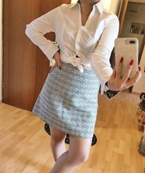 Express Falda de talle alto gris claro