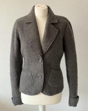 Esprit Blazer in lana grigio scuro Lana