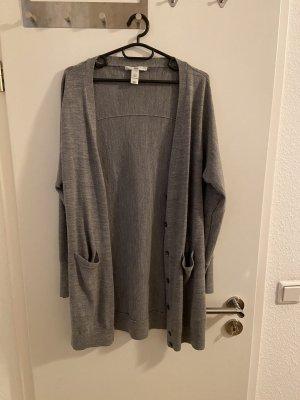 H&M Szydełkowany sweter szary