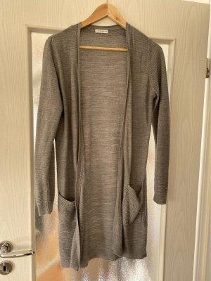 Jaqueline de Yong Knitted Cardigan light grey polyacrylic