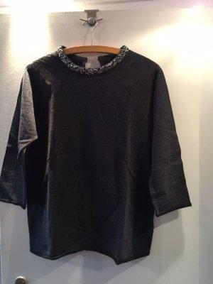 Majestic Filatures Pullover in cashmere grigio scuro