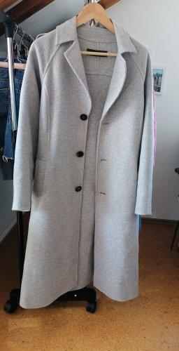 Zara Woman Cappotto in lana grigio chiaro