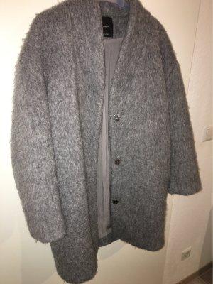 Mango Abrigo de lana gris claro-gris