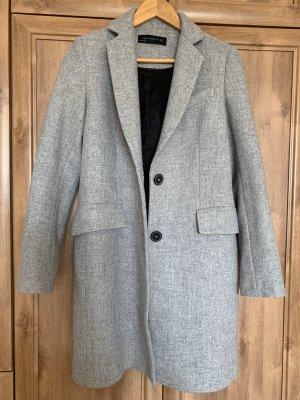 Grauer Mantel von Zara l lang XS