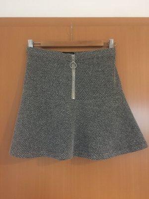Topshop Minifalda gris oscuro-gris claro