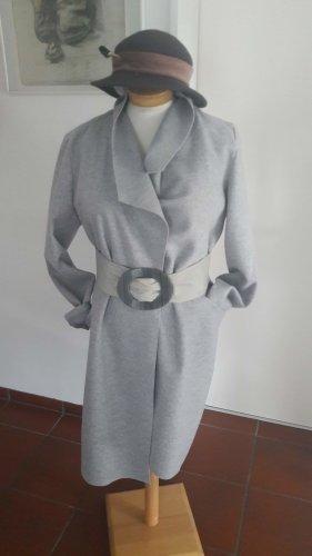 Oversized jas lichtgrijs-grijs Gemengd weefsel