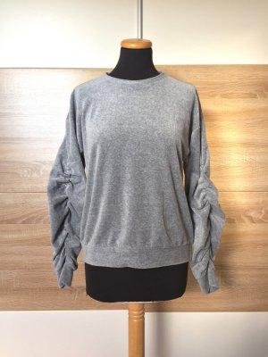 Grauer Nici Pullover, Raffung Sweater von Forever21, Gr. S (NEUw.)