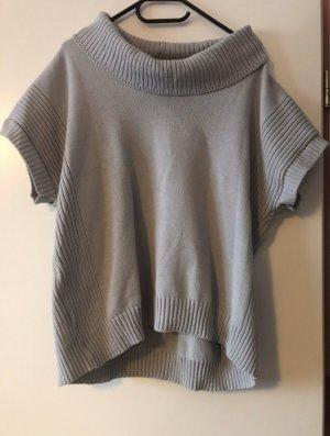 Poncho grey mixture fibre