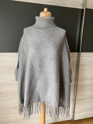 Poncho grey wool