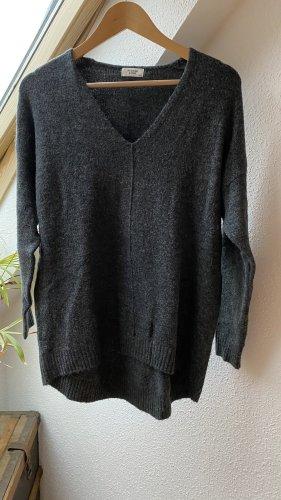 Jacqueline de Yong Pull en laine gris foncé