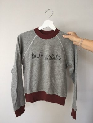 "Grauer Pulli ""Bad Habits"""