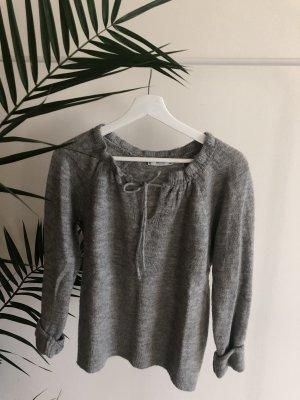 Mango Knitted Sweater light grey