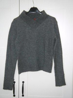 grauer Pulli, Pullover, Wollpullover, grau, Gr. 34, H&M