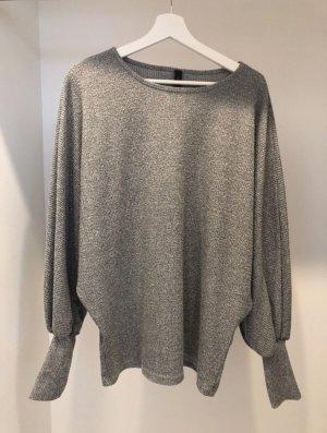 YAS Długi sweter szary