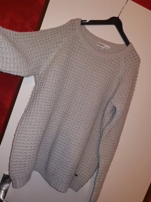 Brodway Crochet Sweater light grey