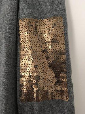 Grauer Pullover Esprit mit Applikationen, Gr. XS