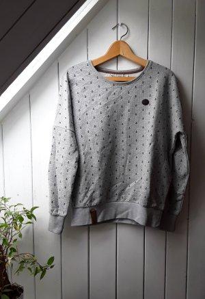 Grauer Pullover mit Ankern von Naketano