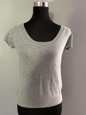 Zara Sweater met korte mouwen zilver-grijs Gemengd weefsel