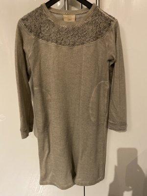 120% cashmere Pull long gris clair-gris