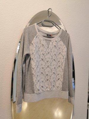 Only Sweatshirt lichtgrijs-grijs