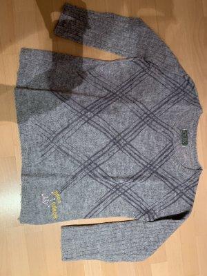 Grauer Pullover von Frogbox mit Rautenmuster