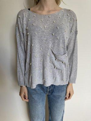 Grauer Pullover von Gil Santucci, Gr. M