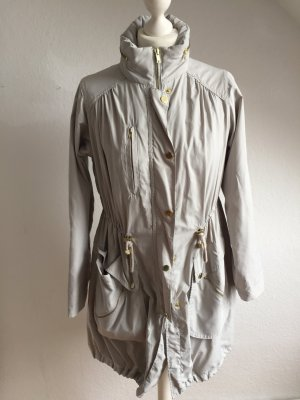 H&M Heavy Raincoat light grey polyester