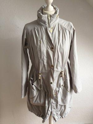 H&M Zware regenjas lichtgrijs Polyester