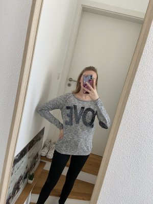 grauer Rich&Royal Love Pullover XS