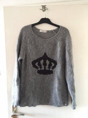 Rich & Royal Pullover a maglia grossa grigio