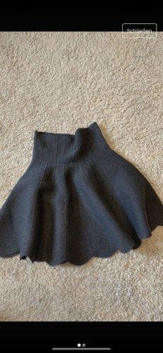 Plisowana spódnica ciemnoszary-antracyt