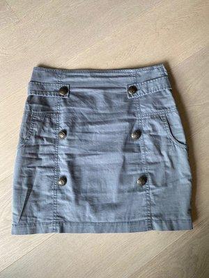 Review Miniskirt grey cotton