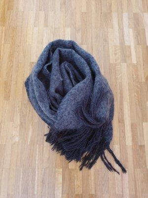 Bufanda de lana gris oscuro-gris antracita