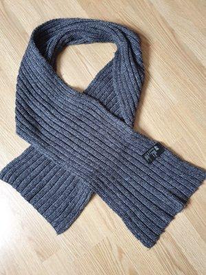 H&M Écharpe en tricot gris foncé-noir