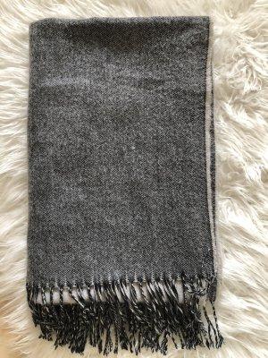 H&M Écharpe à franges gris foncé-gris clair
