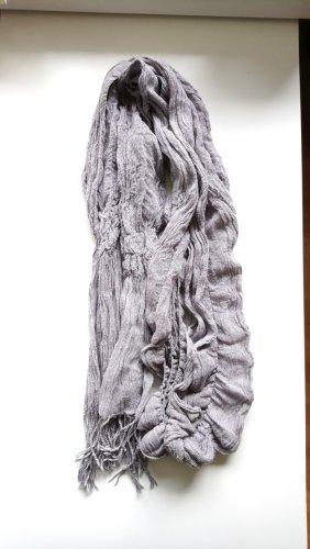Sciarpa con frange grigio