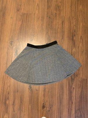 H&M Basic Skaterska spódnica ciemnoszary-czarny