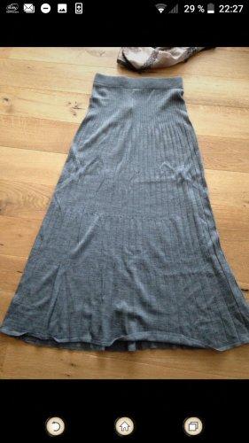 Stefanel Gonna lavorata a maglia grigio