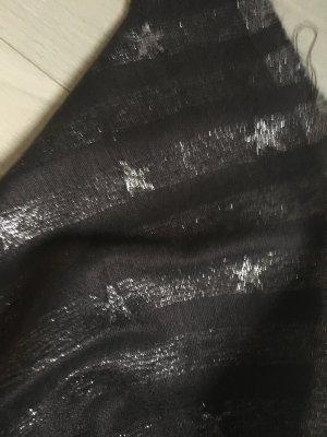 Sjaal met franjes antraciet Viscose